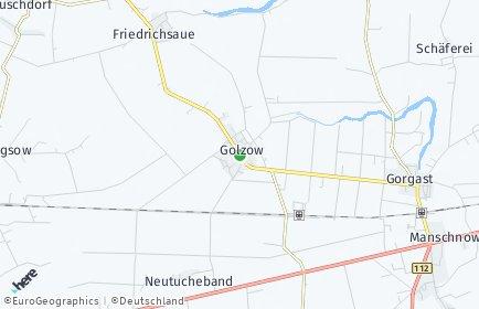 Stadtplan Golzow (Oderbruch)