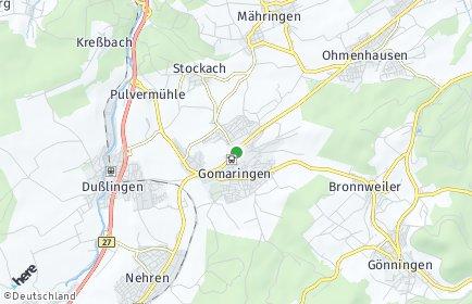 Stadtplan Gomaringen