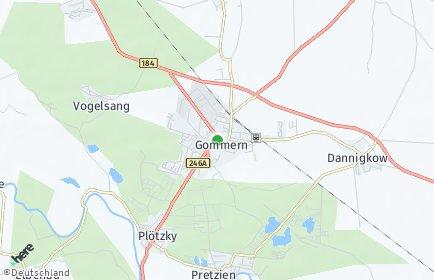 Stadtplan Gommern