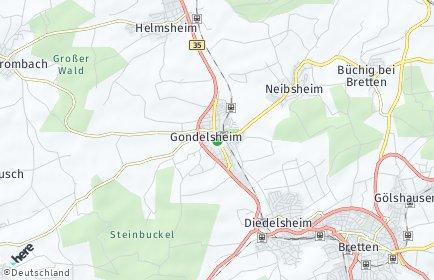 Stadtplan Gondelsheim