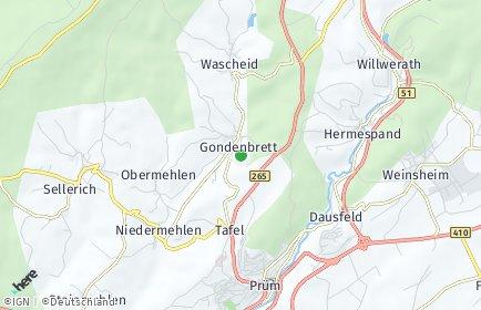 Stadtplan Gondenbrett