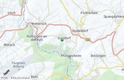 Stadtplan Gondorf bei Bitburg