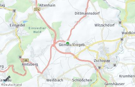 Stadtplan Gornau/Erzgebirge