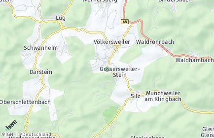 Stadtplan Gossersweiler-Stein
