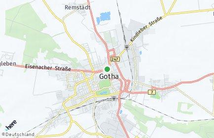 Stadtplan Gotha