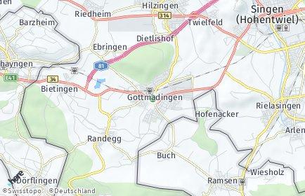 Stadtplan Gottmadingen