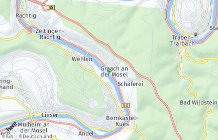 Stadtplan Graach an der Mosel