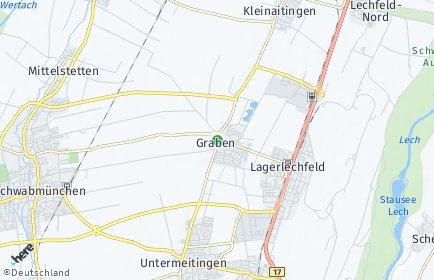 Stadtplan Graben (Lechfeld)