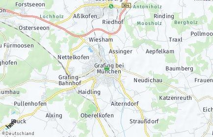 Stadtplan Grafing bei München