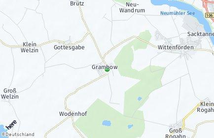 Stadtplan Grambow bei Schwerin