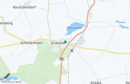 Stadtplan Gransee OT Margaretenhof