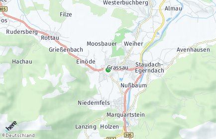 Stadtplan Grassau