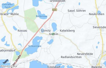 Stadtplan Grebin