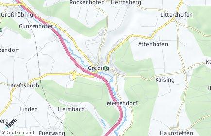 Stadtplan Greding