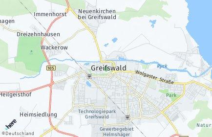 Stadtplan Greifswald OT Fettenvorstadt
