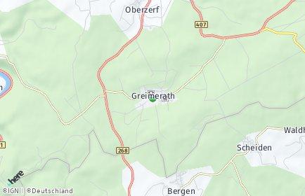 Stadtplan Greimerath bei Trier