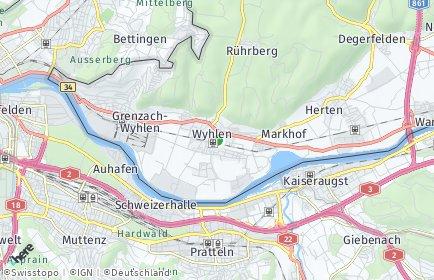 Stadtplan Grenzach-Wyhlen
