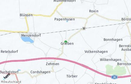 Stadtplan Grieben (Mecklenburg)