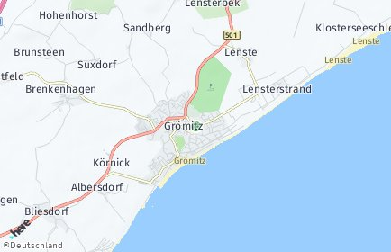 Stadtplan Grömitz