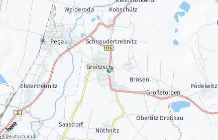 Stadtplan Groitzsch