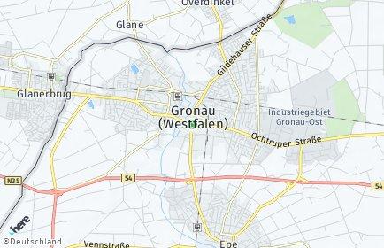 Stadtplan Gronau (Westfalen)