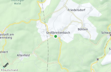 Stadtplan Großbreitenbach OT Böhlen
