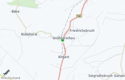 Stadtplan Großderschau