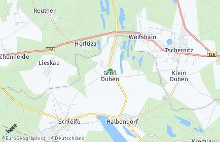 Stadtplan Groß Düben
