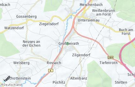 Stadtplan Großheirath