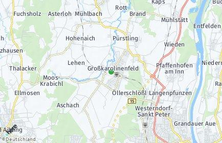 Stadtplan Großkarolinenfeld