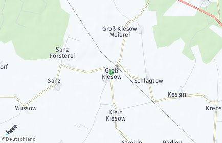 Stadtplan Groß Kiesow