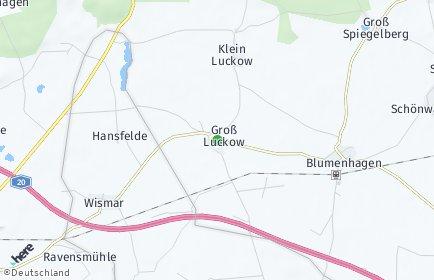 Stadtplan Groß Luckow