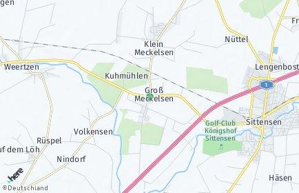 Stadtplan Groß Meckelsen