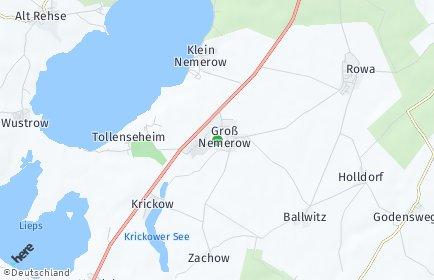Stadtplan Groß Nemerow