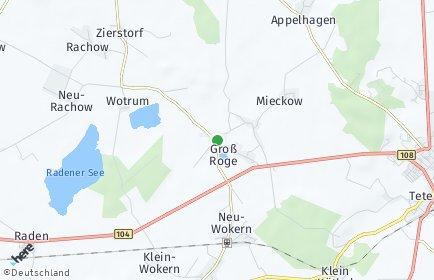 Stadtplan Groß Roge