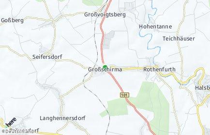 Stadtplan Großschirma