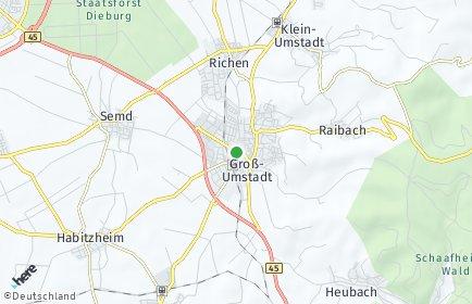 Stadtplan Groß-Umstadt