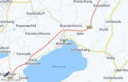 Stadtplan Groß Wittensee