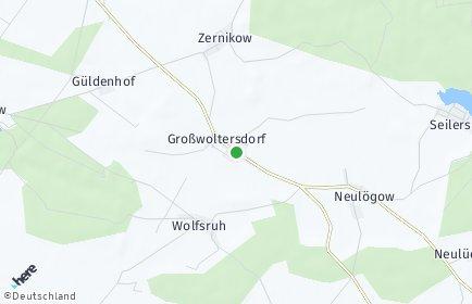 Stadtplan Großwoltersdorf