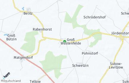 Stadtplan Groß Wüstenfelde