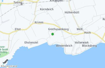 Stadtplan Grothusenkoog