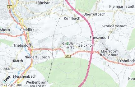 Stadtplan Grub am Forst