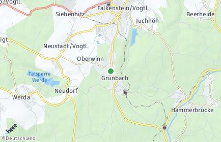 Stadtplan Grünbach (Sachsen)