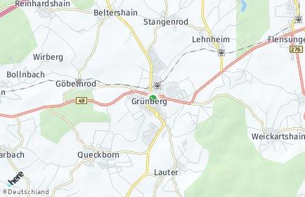 Stadtplan Grünberg (Hessen)