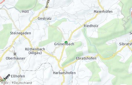 Stadtplan Grünenbach