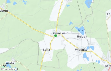Stadtplan Grünewald OT Sella