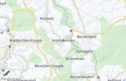 Stadtplan Grünhainichen