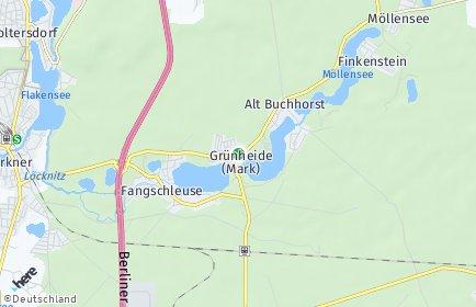 Stadtplan Grünheide (Mark)