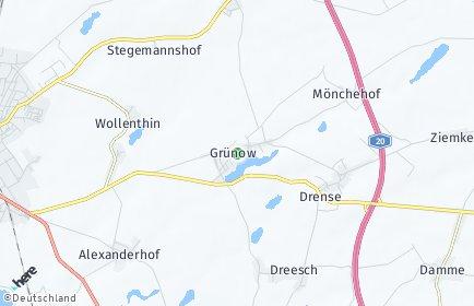 Stadtplan Grünow bei Prenzlau