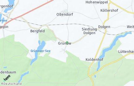 Stadtplan Grünow (Mecklenburg)